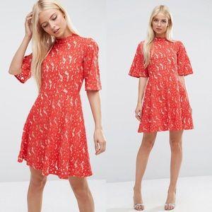 ASOS Kimono Sleeve Mini Skater Dress